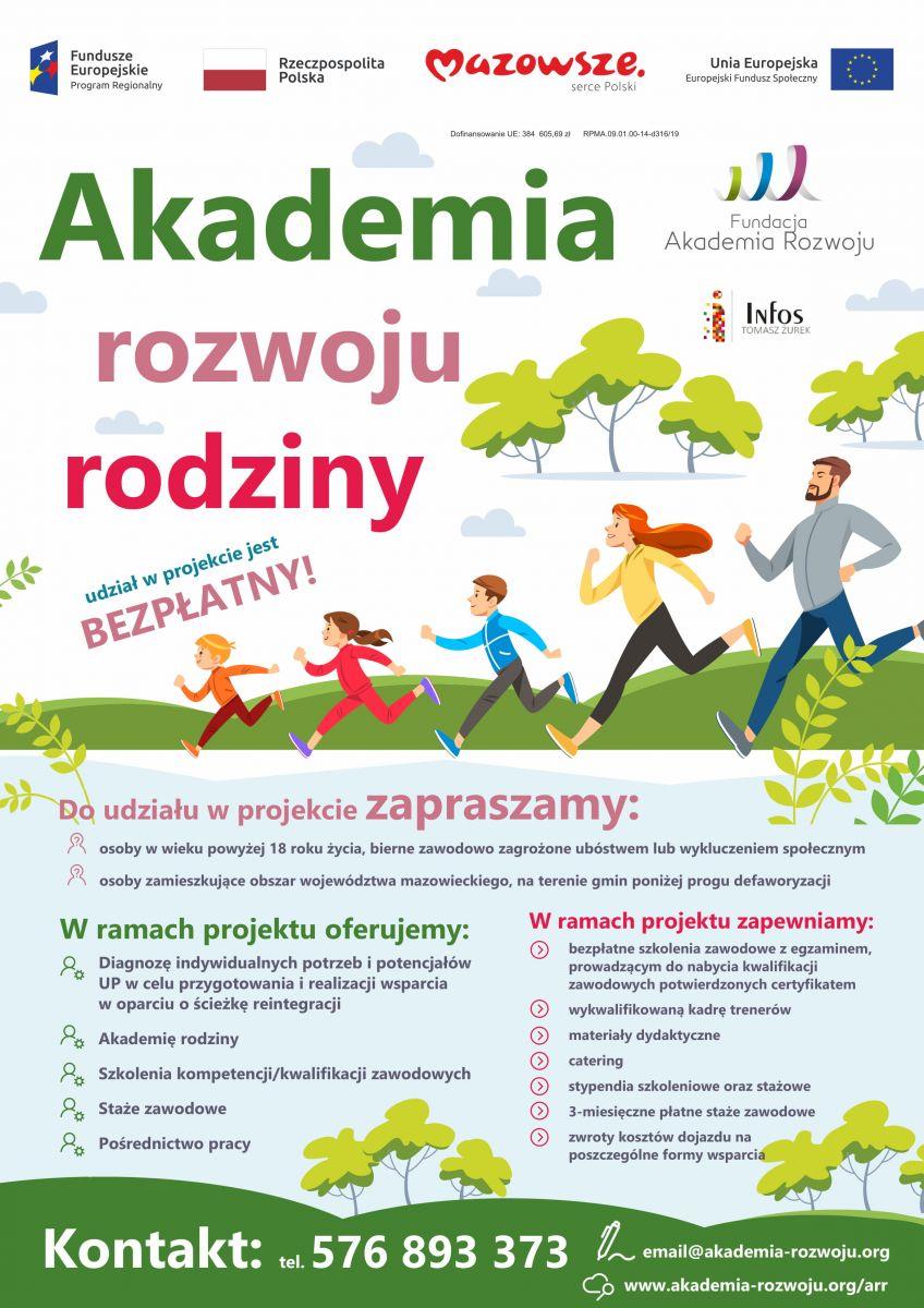 Akademia rozwoju rodziny plakat